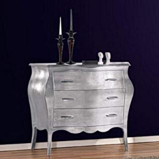 Consolle in foglia argento