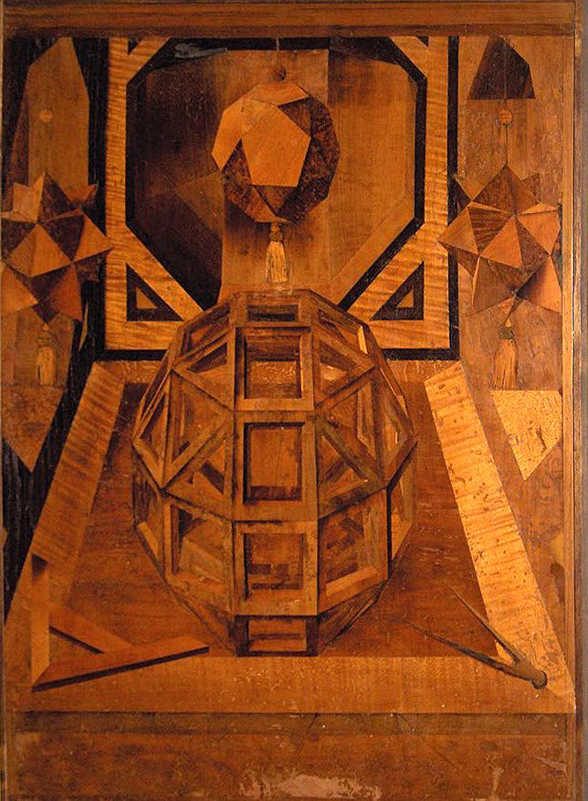 Figura geometrica di fra Damiano Zambelli nella basilica di San Domenico a Bologna