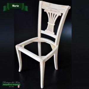 Marta – Fusto per sedia in legno massello