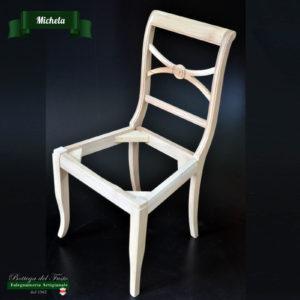 Michela – Fusto per sedia in legno massello di noce